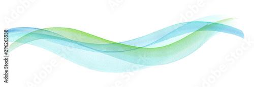 Fototapeta 透明な水、爽やかな風の抽象イメージ。水彩イラスト。 obraz