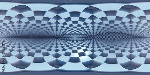 Fototapeten Künstlich 360 degree labyrinth, abstract maze background, equirectangular projection, environment map