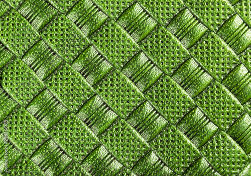 Obraz na plátně  Green perforated leather texture