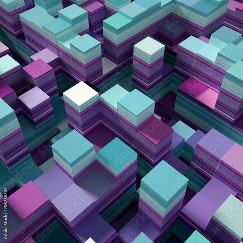 Soft, nice abstract background in bright colors. 3d illustration, 3d rendering.