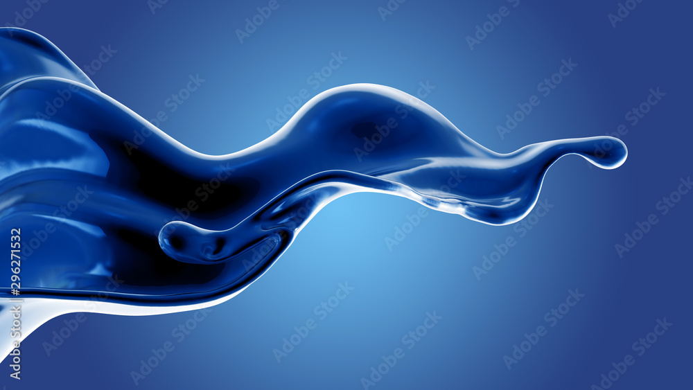 Fototapety, obrazy: Splash fluid. 3d illustration, 3d rendering.