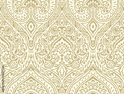 Seamless vintage damask wallpaper design Wallpaper Mural