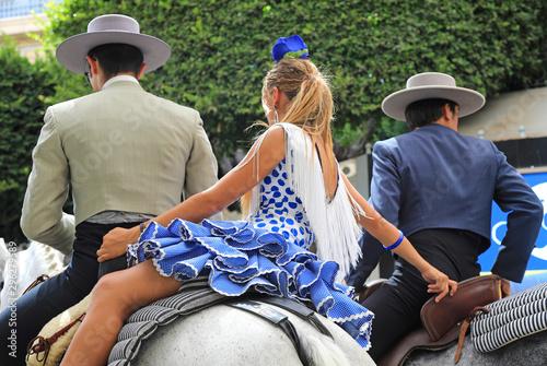 Cuadros en Lienzo trio de jinetes andaluces fiesta almería 4M0A6439-as19
