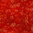 canvas print picture - hearts background pattern