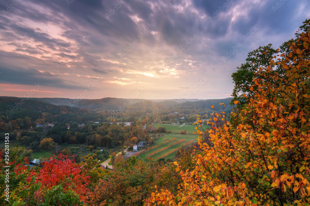 Fototapety, obrazy: Beautiful autumnal landscape at sunset in Poland