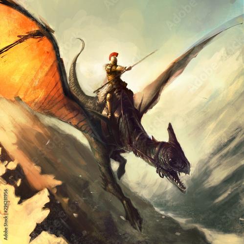 Fotografie, Obraz chevalier dragon