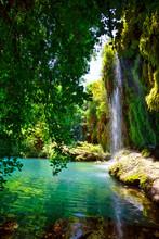 Kursunlu Nature Park And Waterfall With Lake