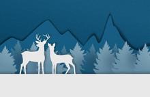 Digital Craft Made Deer Couple...