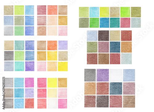 Abstract set mosaic Pencil hand drawing many light colors Wallpaper Mural