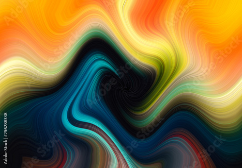 Foto auf Gartenposter Fractal Wellen Set of different color swirl twisting towards center. Spiral multi colored Motion blur texture abstract background. Spiral Vortex Graphic modern art. Trendy desktop abstract wallpaper