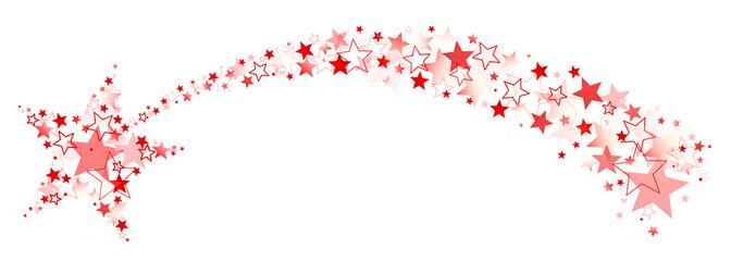 Rote Sternschnuppe Aus Einzelnen Sternen