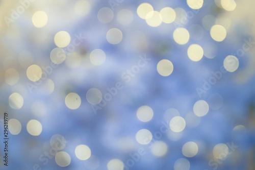Canvastavla  Defocused background with blurred Christmas light