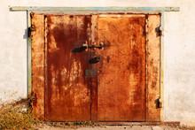 Old Metal Garage Doors. Flakin...