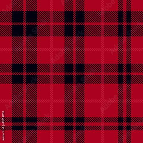 Obraz na plátně  Red plaid pattern vector