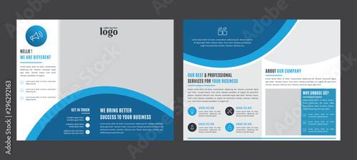 Vászonkép  Bifold Business vector template
