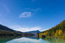 Walchensee, Germania. Magnifico Panorama Del Lago Famoso Lago Tedesco