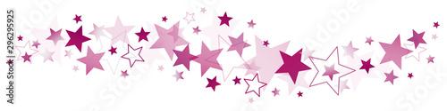 Horizontale Bordüre Violette Sterne