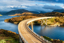 The Curved Kylesku Bridge In S...