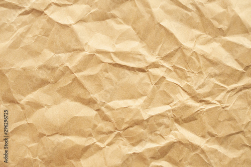 Brown crumpled recycle paper texture background Tapéta, Fotótapéta