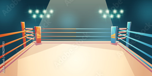Box ring, arena for sports fighting Wallpaper Mural