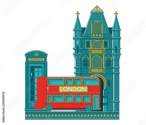 фотография London city buildings silhouette