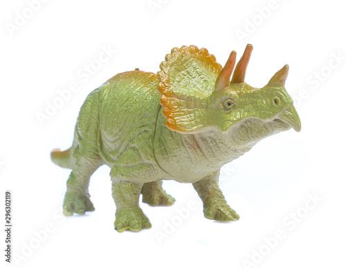 dinosaurs toys isolated  on white background