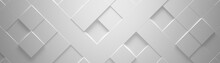 Wide White Geometric Backgroun...