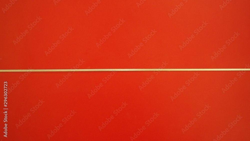 Fototapety, obrazy: Red background wall with white horizontal line.