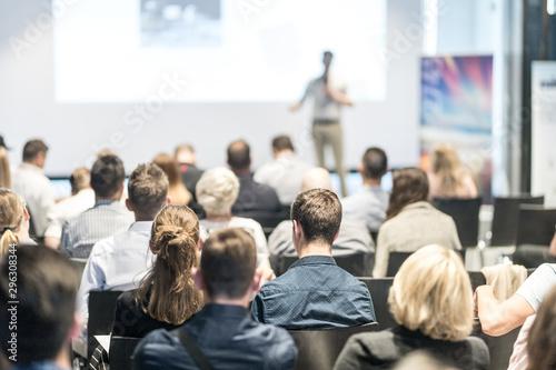 Vászonkép Business and entrepreneurship symposium
