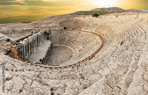 Amphitheater in Hierapolis in Turkey