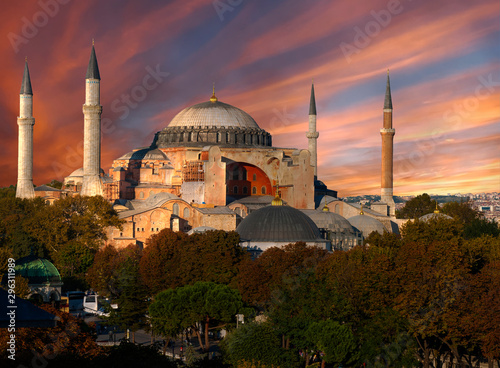 Hagia Sophia after the sunset