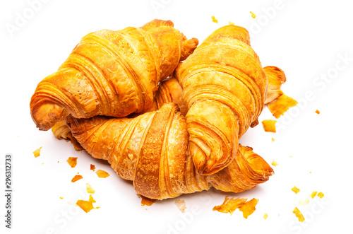 Obraz na plátně Französische Croissants isoliert auf weißem Hintergrund
