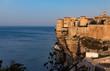 Bonifacio Klippen Steilküste Frankreich Korsika Sonnenaufgang Meer Mittelmeer