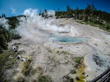 Artists Paint Pots Yellowstone Wyoming
