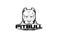 SIMPLE AND MODERN LOGO PITBULL...