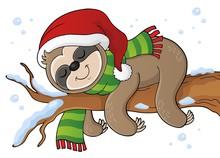 Christmas Sloth Theme Image 1