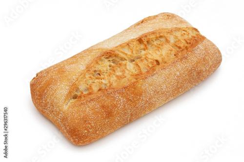 Ciabatta, italian bread isolated on white background Canvas Print