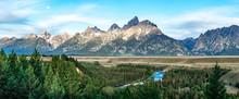 Grand Teton Mountains At Snake...