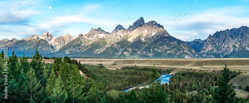 Valokuvatapetti grand teton mountains at snake river overlook