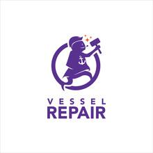 Fun Mascot Logo For Boat And Vessel Repair Company Design Inspiration