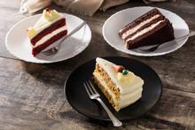 Assortment Of Sweet Cake Slice...