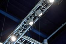 Small Spotlights On Aluminium Truss
