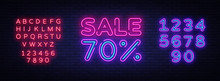 Sale Neon Sign Vector. Big Sal...