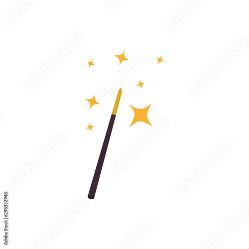Obraz na plátně  fairytale magic wand fantastic isolated icon vector illustration design