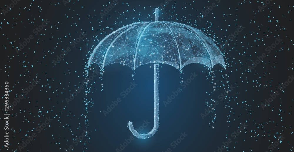 Fototapety, obrazy: Vector umbrella rain protection.