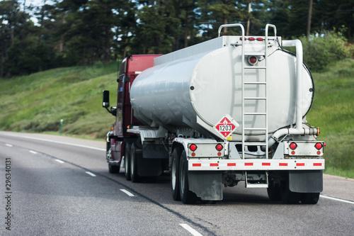 Fotografie, Obraz  Large tanker truck hauling on highway