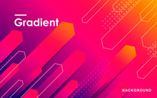 Gradient Shape Abstract Geometric Background. Minimal Design Concept.