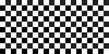 Rally Flag Texture. Chess Background Pattern. Black And White Square