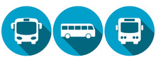 Symbols For Bus Transport, Fro...