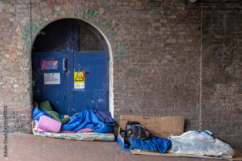 austerity on the streets of brighton. uk homeless capitol Canvas Print